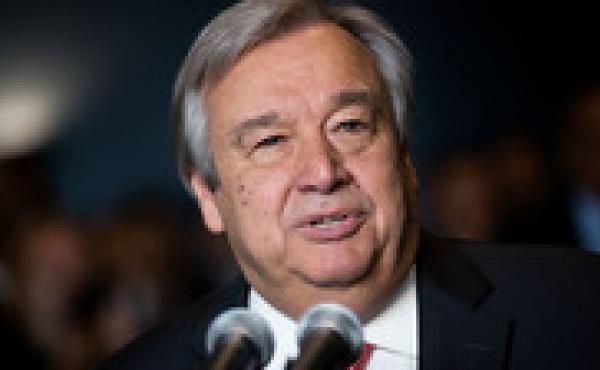 Antonio Guterres, the newly elected United Nations secretary-general and former prime minister of Portugal, delivers remarks at U.N. headquarters on Thursday in New York City.