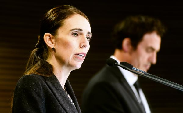 Jacinda Ardern, New Zealand's prime minister, speaks during a news conference in Wellington, New Zealand, on March 21. New Zealand has banned military style semi-automatics and assault rifles and will establish a nationwide buyback of the weapons as a res
