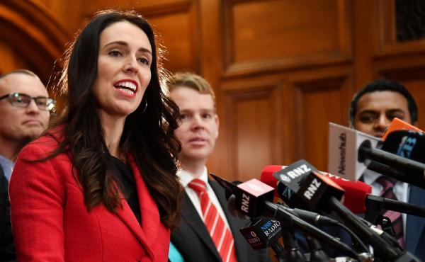 "The new leader of New Zealand's Labour Party, Jacinda Ardern, speaks at her first press conference at Parliament in Wellington on Tuesday. Ardern was elected after Andrew Little stepped down just weeks before a general election, citing ""disappointing"" opi"