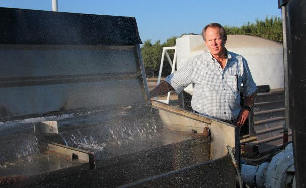 Rick Cosyns, a farmer in Madera, Calif., relied on water from the aquifer in years of drought. In other years he could replenish the aquifer with water from the San Joaquin River.