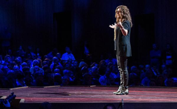 Nilofer Merchant from the TED stage