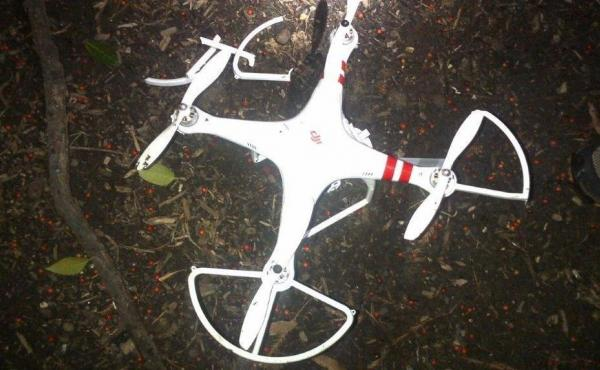 """The Secret Service released this photo of a """"quad copter"""" that crashed on the White House grounds Jan. 26."""