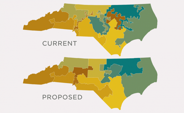 Map: North Carolina's Shifting District Boundaries