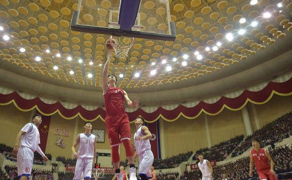A joint China-North Korea basketball game in Pyongyang in October.