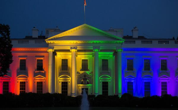 The White House was illuminated in rainbow-colored light on June 26, 2015, after the Supreme Court issued a ruling that made same-sex marriage legal nationwide.
