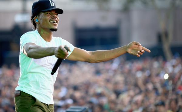 Chance the Rapper performs at Los Angeles Grand Park on August 31, 2014.