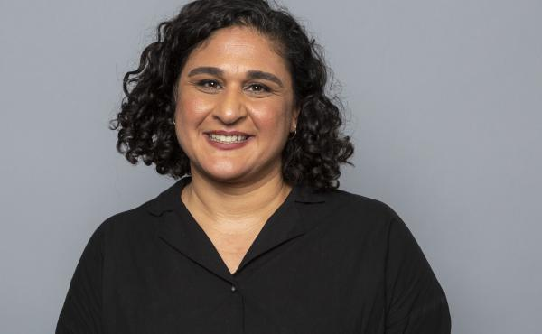 Chef and writer Samin Nosrat poses for a photo at the Television Critics Association Summer Press Tour on July 29, 2018, in Beverly Hills, Calif.