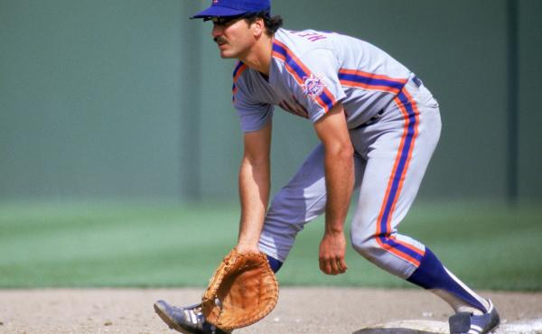 Keith Hernandez of the New York Mets is shown above during a 1986 game against the San Diego Padres.