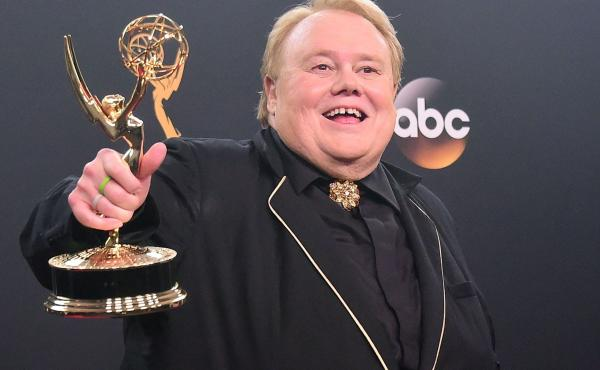 Louie Anderson poses in the press room during the 68th Emmy Awards on Sept. 18, 2016 in Los Angeles.