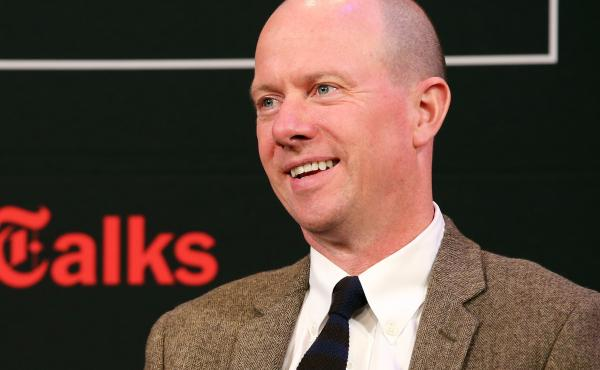 """Sam Sifton speaks at New York Times """"TimesTalks"""" with celebrity chefs and food personalities on October 19, 2013 in New York City."""