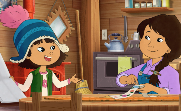 In the PBS program Molly of Denali, Alaska Native Molly Mabray helps her mom run a trading post in an Alaskan village.