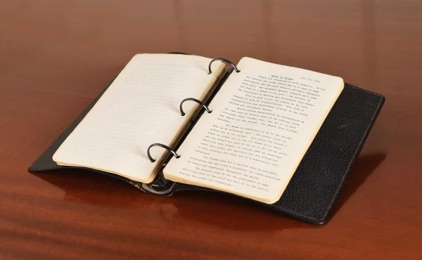 The diary that John F. Kennedy wrote during the summer of 1945, in between his military service and first campaign for Congress, when he worked as a journalist for Hearst Newspapers.