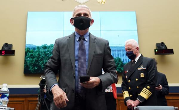 Dr. Anthony Fauci, director of the U.S. National Institute of Allergy and Infectious Diseases; and Adm. Brett P. Giroir, U.S. Assistant Secretary for Health, testified before Congress in June on the status of the pandemic. Fauci is just one of the public