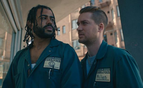 Longtime friends Daveed Diggs (left) and Rafael Casal co-wrote and co-star in the film Blindspotting.