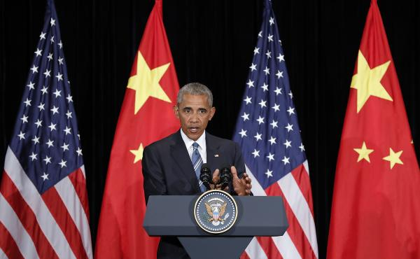 President Barack Obama speaks to media after the G20 closing at JW Marriott Hotel on Monday in Hangzhou, China.