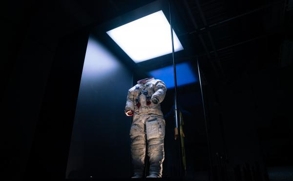 """The spacesuit Neil Armstrong wore on the moon during the Apollo 11 mission 50 years ago. Apollo 11 blasted off for the moon on July 16, 1969, and Armstrong took his famed """"giant leap"""" five days later."""