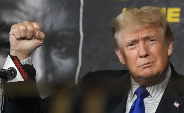 Former President Donald Trump, seen here Saturday, has made unfounded claims about fraud affecting the California gubernatorial recall election.