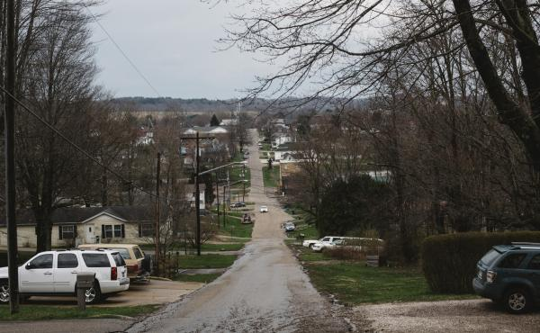 McArthur, the county seat of Vinton County, Ohio, shown on April. 3, 2018. The county prosecutor says the pandemic has put additional strain on children who have parents addicted to drugs.