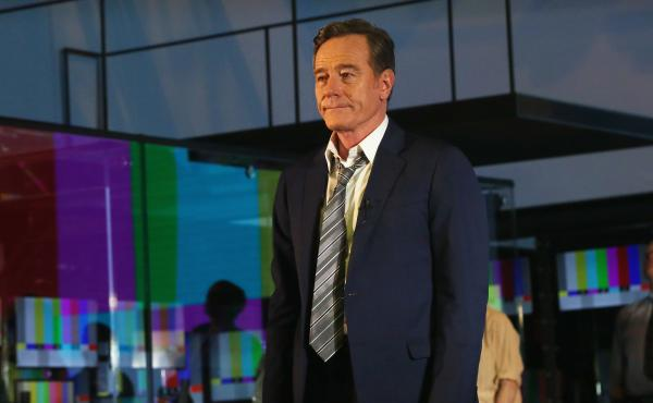 Bryan Cranston takes his opening night curtain call in the Broadway version of Network.