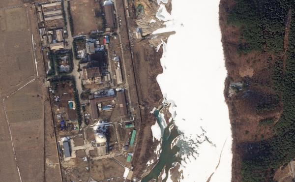 Satellite image of the Yongbyon Nuclear Research Center in North Korea, taken on Feb. 19