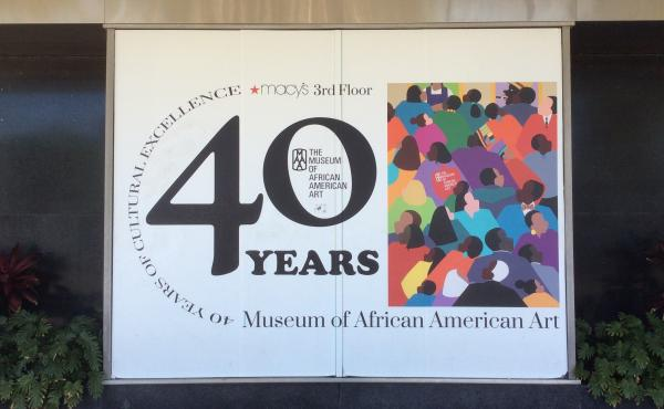 """The African American Art Museum in Los Angeles is a """"micro museum"""" tucked away on the third floor of a Macy's in the city's Crenshaw district. The museum has been closed since March 2020."""