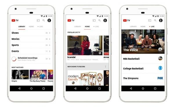 YouTube TV initially offers about 40 channels to subscribers in five of the largest U.S. markets.
