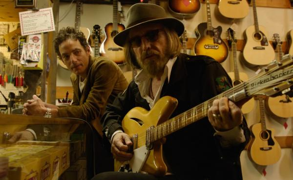 Jakob Dylan (left) and Tom Petty in a still from Echo in the Canyon.