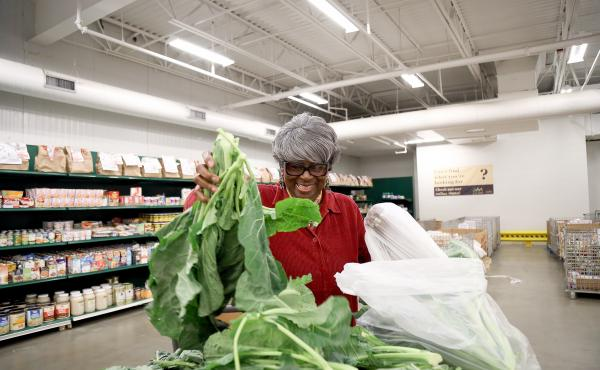 Dorothy Boddie runs the outreach ministry at Allen Chapel AME, one of the Capital Area Food Bank's nonprofit partners. The D.C.-area food bank is part of a growing trend to move toward healthier options in food assistance, because many in the population i