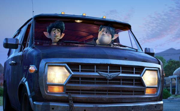 Ian (voiced by Tom Holland) and his older brother Barley (voiced Chris Pratt) set off on a distinctly suburban quest in Onward.