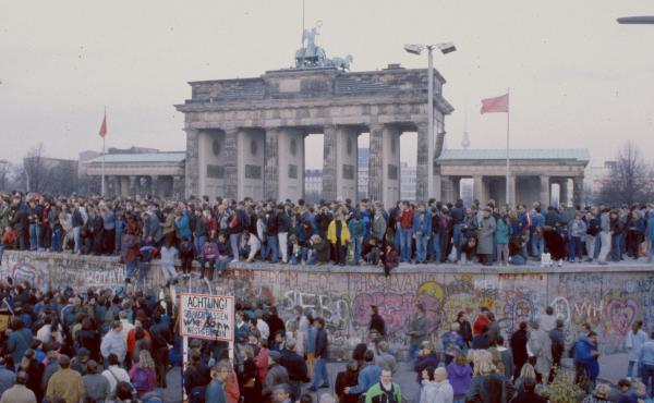 The Berlin Wall went up almost overnight in 1961; in November 1989, it began to crumble.