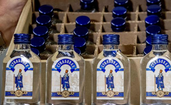 Vodka bottles were seized by the customs authorities in the port of Rotterdam, on Feb. 26, destined for North Korean leader Kim Jong Un and his army command.