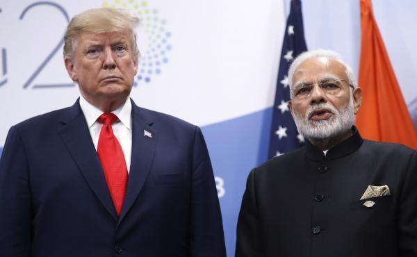 President Trump, shown here with India's Prime Minister Narendra Modi at the Group of 20 meeting in Buenos Aires last November, will be meeting the Indian leader again at the Osaka G-20 on Friday, amid rising trade tensions.