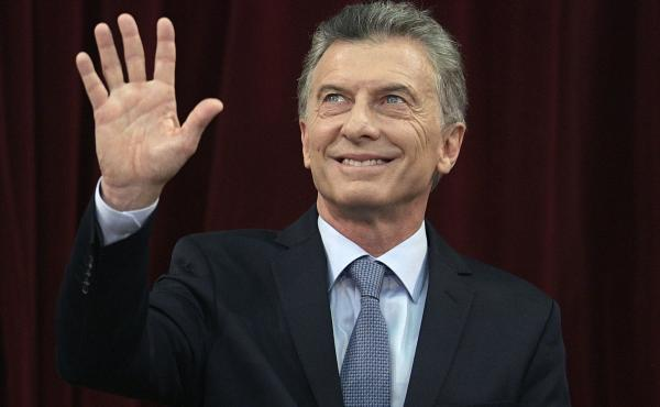 Argentine President Mauricio Macri waves during the inauguration of the congress session in Buenos Aires, Argentina, on March 1.