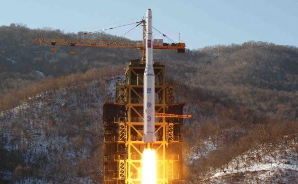 In this Dec. 12, 2012, file photo released by Korean Central News Agency, North Korea's Unha-3 rocket lifts off from the Sohae launch pad in Tongchang-ri, North Korea. In 2018, North Korea's government said it would destroy the facility.