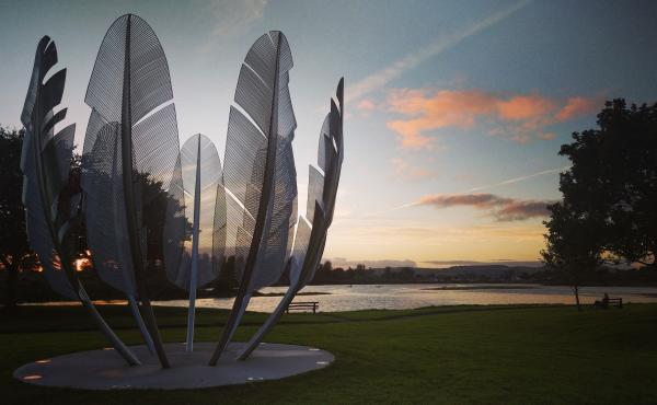 The Kindred Spirits sculpture in Midleton, County Cork, Ireland, pays tribute to a gift from the Choctaw nation to help during the 19th century potato famine. Ireland paid it back with donations to the Navajo and Hopi nations to help them during the pande