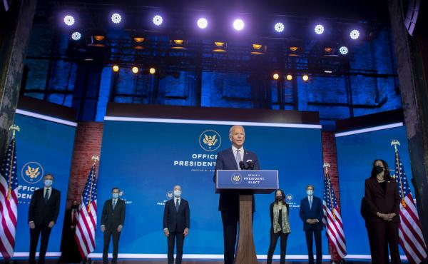 President-elect Joe Biden introduces key foreign policy and national security nominees and appointments last week in Wilmington, Del.