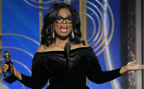 Oprah Winfrey accepts the 2018 Cecil B. DeMille Award during the 75th Annual Golden Globe Awards at The Beverly Hilton Hotel Sunday. Winfrey's speech spurred talk of a possible presidential run.