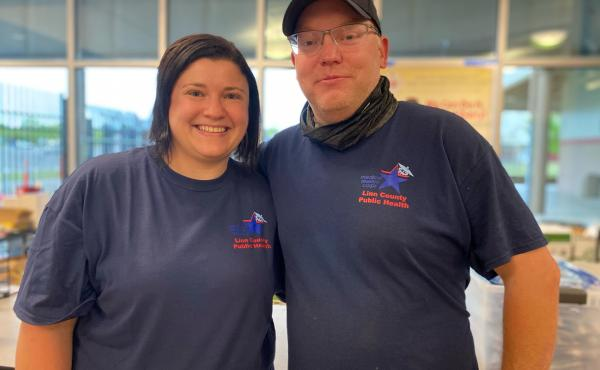 Linn County Emergency Manager Neva Anderson and her husband, Erik Anderson, say they've never wasted a shot, but it's getting harder to find people who want a COVID-19 vaccination.