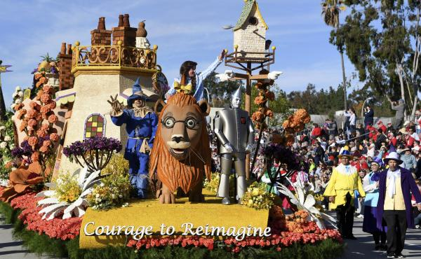 The Kaiser Permanente float was one of many participating in the 131st Rose Parade in Pasadena, Calif., in January. Organizers have canceled the 2021 event, citing health and safety risks associated with the coronavirus pandemic.