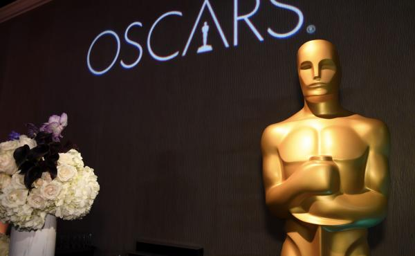 Oscar statue watches over the 91st Oscars Nominees Luncheon at the Beverly Hilton hotel in Beverly Hills, California.