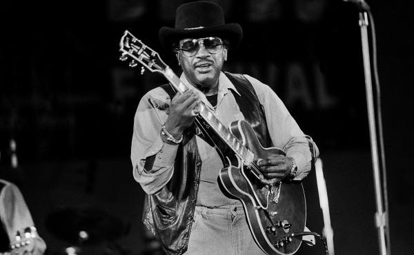 American Blues musician Otis Rush at the Petrillo Band Shell, Chicago, Illinois, June 3, 1995.