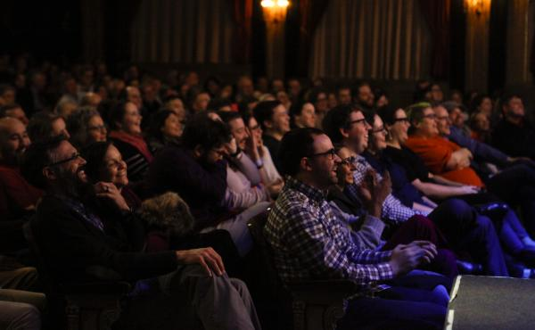 A live audience experiences NPR's Ask Me Another at The Warner Theatre in Washington, D.