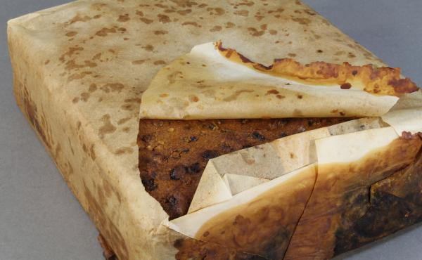 """The 106-year-old fruitcake is """"well-preserved,"""" and is believed to have been taken to Antarctica with the Robert F. Scott expedition."""