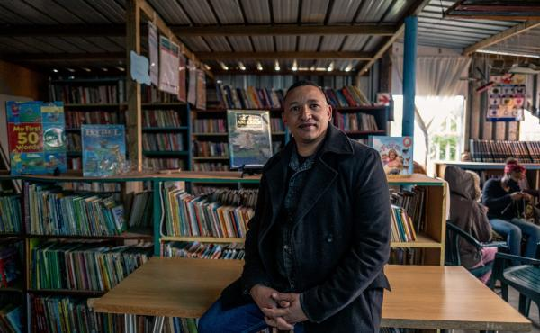 Terence Crowster, a development worker who has been an avid reader since he was young, solicited donations to start the Hot-Spot Library in Scottsville, Cape Town, so kids would have a safe place to connect with books.