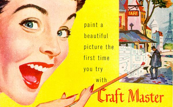 Paint-by-numbers advertisement.