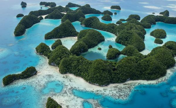 """Rock Islands in Palau, a UNESCO World Heritage Site and a popular dive location. Retailers who break the """"reef-toxic"""" sunscreen ban will face fines of $1,000."""