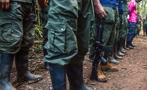 FARC rebels met at a conference in September to endorse a peace deal with the Colombian government. A subsequent rejection of the deal by voters has left them in limbo.