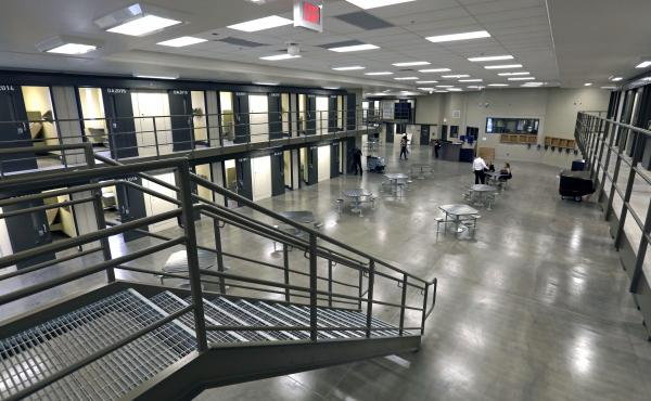 A housing unit in the west section of the State Correctional Institution at Phoenix in Collegeville, Pa. Pennsylvania on Wednesday ordered its 21 correctional facilities on lock down amid a rash of drug-related illnesses among prison staff.
