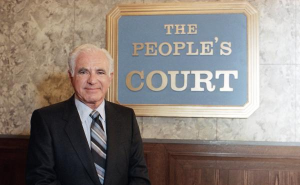 Joseph Wapner, star of the television show The People's Court on Oct. 22, 1986.