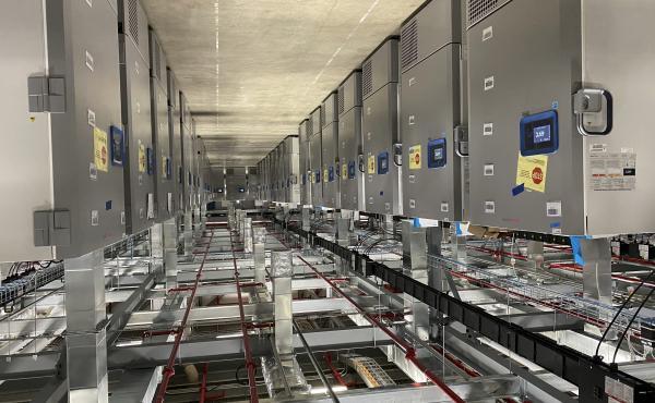 Refrigerators store Pfizer's COVID-19 vaccine at a company facility in Kalamazoo, Mich.